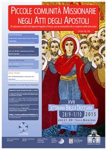 Settimana Biblica 2015 Manifesto 300