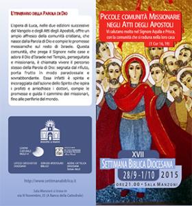 Settimana biblica 2015 Pieghevole 300